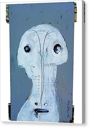 Life As Human Number 27 Ghosts Canvas Print by Mark M  Mellon