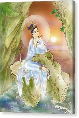 Life-extending Kuan Yin Canvas Print by Lanjee Chee