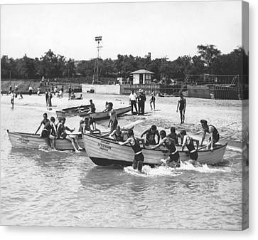 Life Guards Summer Training Canvas Print by Underwood Archives