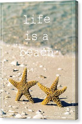 Life Is A Beach Canvas Print by Edward Fielding