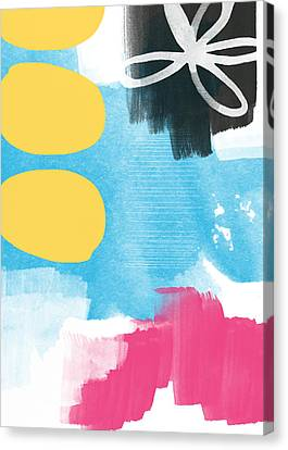 Life Is A Celebration-abstract Art Canvas Print by Linda Woods