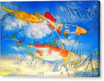 Life Is But A Dream - Koi Fish Art Canvas Print by Sharon Cummings