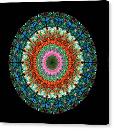 Life Joy - Mandala Art By Sharon Cummings Canvas Print by Sharon Cummings