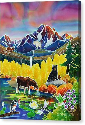 Life Of The Mountains Canvas Print by Harriet Peck Taylor