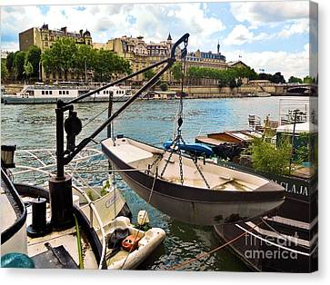 Life On The Seine Canvas Print by Lauren Leigh Hunter Fine Art Photography