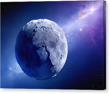 Lifeless Earth Canvas Print by Johan Swanepoel