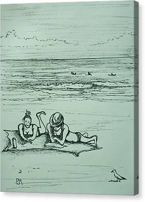 Life's A Beach Canvas Print by Pete Maier