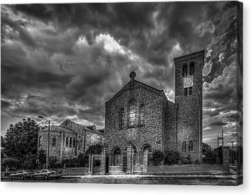 Light Above The Church Canvas Print by Marvin Spates