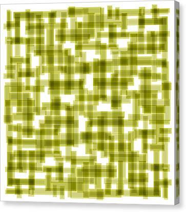Light Green Abstract Canvas Print by Frank Tschakert