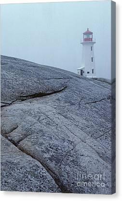 Light House At Peggys Cove Nova Scotia Canvas Print by Cyril Furlan