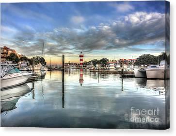 light house harbour town Hilton Head Canvas Print by Dan Friend