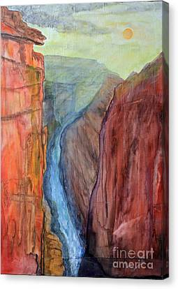 Light In The Canyon Canvas Print by Paul Chenoweth