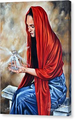 Light My Candle Canvas Print by Ilse Kleyn