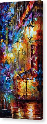 Light Of Night Canvas Print by Leonid Afremov