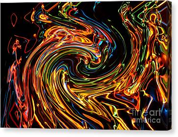 Light Painting 2 Canvas Print by Delphimages Photo Creations