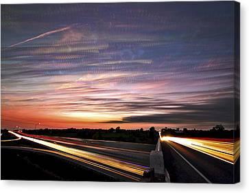 Light Speed Sunset Canvas Print by Matt Molloy