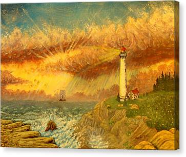 Light That Guides Thee  Canvas Print by David Bentley