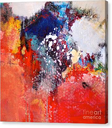 Light Up The Square Canvas Print by Lisa Schafer