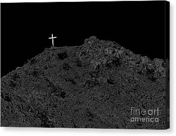 Lighted Cross Canvas Print by Robert Bales