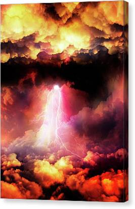 Lightening Striking Canvas Print by Victor Habbick Visions