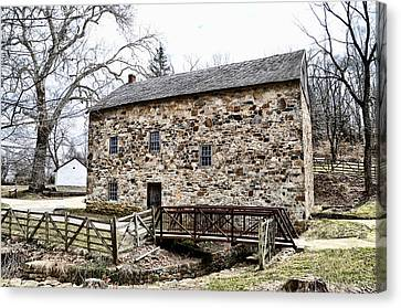 Lightfoot Mill At Anselma Chester County Canvas Print by Bill Cannon