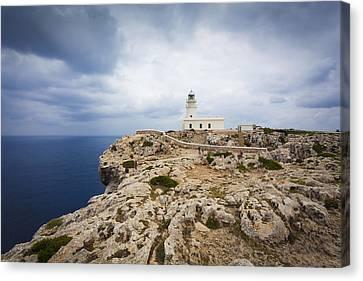 Lighthouse Caballeria Canvas Print by Antonio Macias Marin