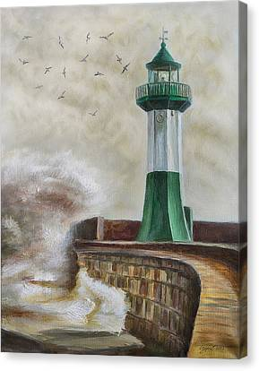 Lighthouse Canvas Print by Gynt Art