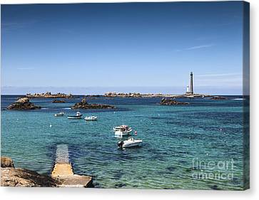 Lighthouse Ile Vierge Brittany France Canvas Print by Colin and Linda McKie