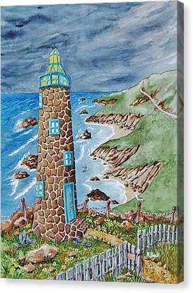 Lighthouse Canvas Print by Katherine Young-Beck