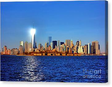 Lighthouse Manhattan Canvas Print by Olivier Le Queinec