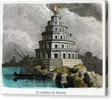 Lighthouse Of Alexandria Canvas Print by Cci Archives