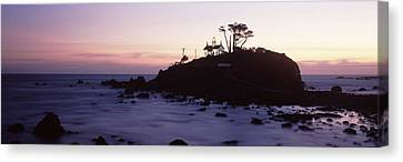 Lighthouse On A Hill, Battery Point Canvas Print by Panoramic Images