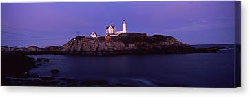 Lighthouse On The Coast, Nubble Canvas Print by Panoramic Images