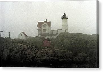 Lighthouse - Photo Watercolor Canvas Print by Frank Romeo