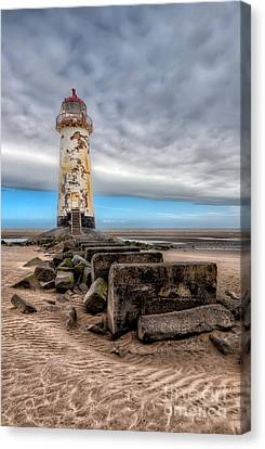 Lighthouse Steps Canvas Print by Adrian Evans