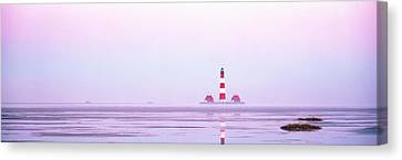 Lighthouse Westerhever North Sea Germany Canvas Print by Panoramic Images