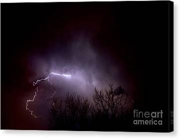 Lightning 2 Canvas Print by Jacqueline Athmann