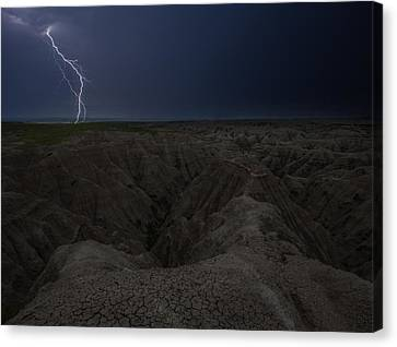 Lightning Crashes Canvas Print by Aaron J Groen