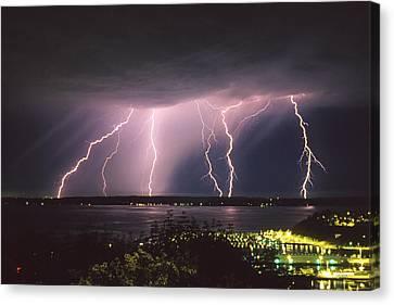 Lightning Canvas Print by King Wu