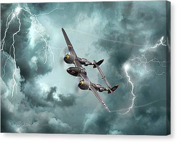 Lightning Strikes Canvas Print by Peter Chilelli