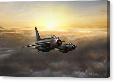 Lightnings On The Horizon Canvas Print by Peter Chilelli