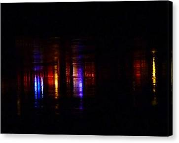 Lights On The River Reflection Canvas Print by Susan Garren