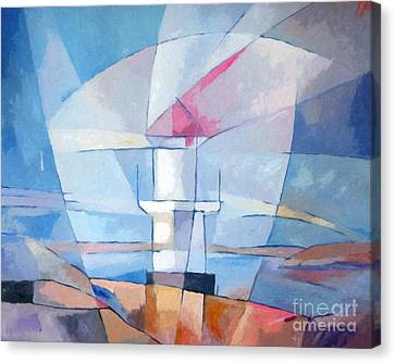 Lightscape At Sea Canvas Print by Lutz Baar