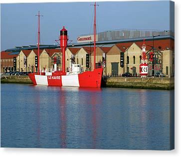 Lightship, Docks Vauban, Le Havre Canvas Print by Alex Bartel