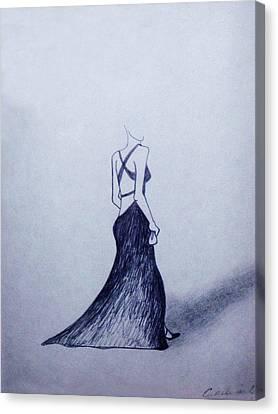 Lil' Black Dress Canvas Print by Cynthia Hilliard