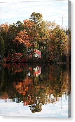 Lil Red On The Lake Canvas Print by John Rizzuto