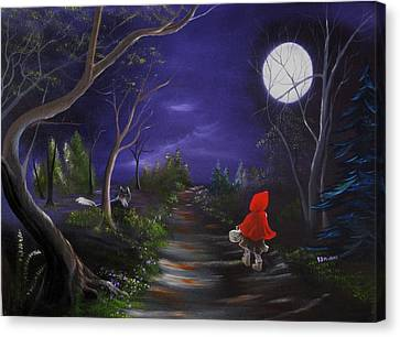 Lil Red Riding Hood Canvas Print by RJ McNall