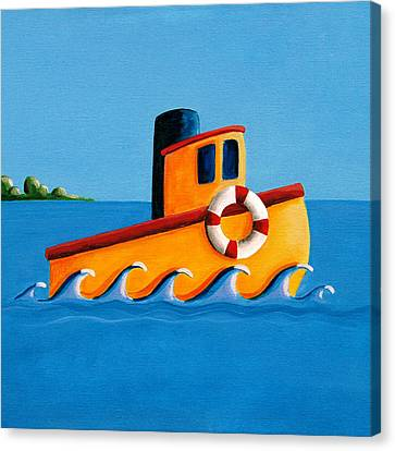 Lil Tugboat Canvas Print by Cindy Thornton