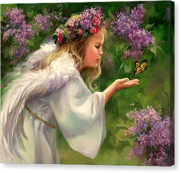 Lilac Angel Canvas Print by Laurie Hein
