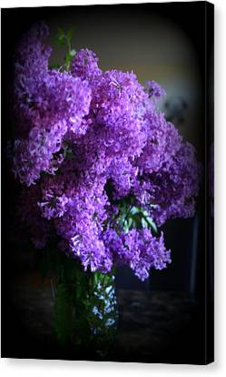 Lilac Bouquet Canvas Print by Kay Novy